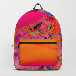 California's Sierra Mts-Digital Art, Pink & Orange Backpack