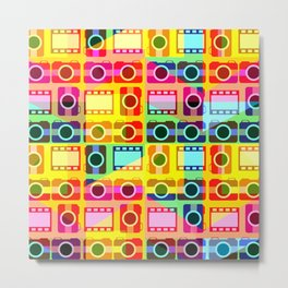 Colorful camera pattern Metal Print
