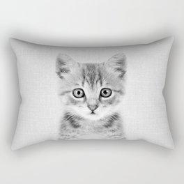 Kitten - Black & White Rectangular Pillow