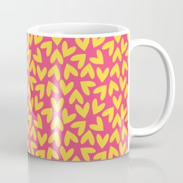 Yellow and Pink Hearts Repeated Pattern 080#001 Coffee Mug