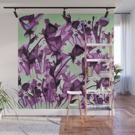 Painterly Graceful Flowing Flowers Wall Mural