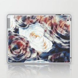 Roses print in retro drawing style watercolor digital Laptop & iPad Skin