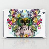 skulls iPad Cases featuring SKULLS by RIZA PEKER