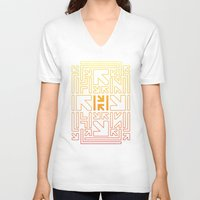 pacman V-neck T-shirts featuring PACMAN by HERENOW