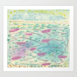 Bora Bora - The Beautiful Sea Art Print
