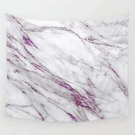 Gray and Ultra Violet Marble Agate Wall Tapestry