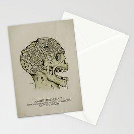 Zombie Phrenology Stationery Cards