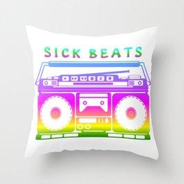 Sick Beats Throw Pillow