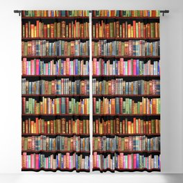 Book Lovers Gifts, Antique bookshelf Blackout Curtain