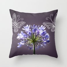 violet dance Throw Pillow