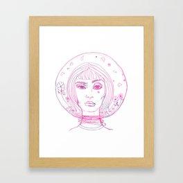 Barbarella Space Princess Framed Art Print
