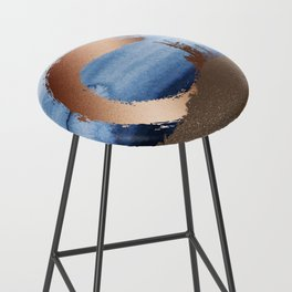 Inspiration: Gold, Copper And Blue Bar Stool