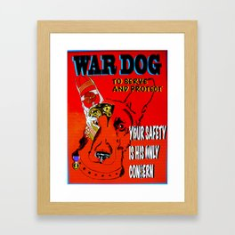 War Dog Framed Art Print