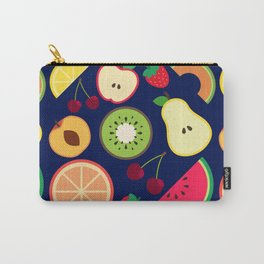 Fruit pattern vector illustration colorful Carry-All Pouch