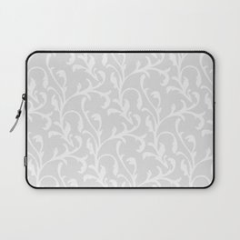 Pastel gray white abstract vintage damask pattern Laptop Sleeve