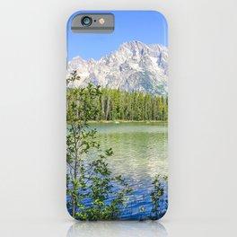 Grand Teton National Park Jenny Lake Mountains Landscape Print iPhone Case