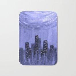 City of Fire ~ Blue Bath Mat
