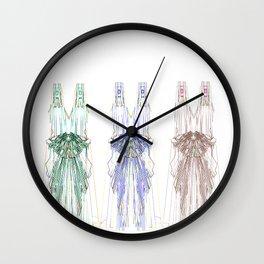 Ink Dresses Wall Clock