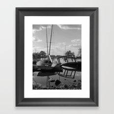 Lagoon and Boats Framed Art Print