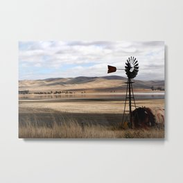 Rural Landscape of Rolling Hills in Australia Metal Print