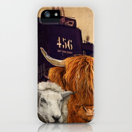 Sheep Cow 123 iPhone Case