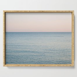 PINK SKY, BLUE SEA, EVENING SWIM Serving Tray