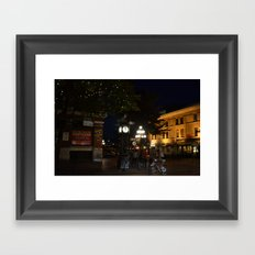 Steamclock in Vancouver Framed Art Print