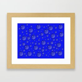 Water drops - Blue Framed Art Print