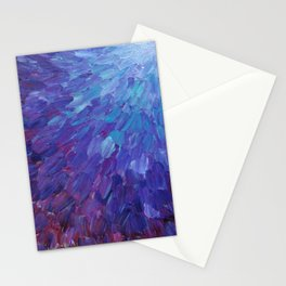 SCALES OF A DIFFERENT COLOR - Abstract Acrylic Painting Eggplant Sea Scales Ocean Waves Colorful Stationery Cards