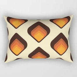 Mid-Century Modern Orange and Brown Tear Drop Rectangular Pillow