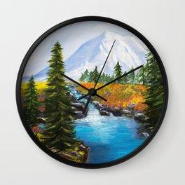 Tipsoo Lake Mt. Rainier Wall Clock