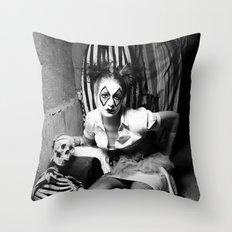 Nurse & Clowns Throw Pillow