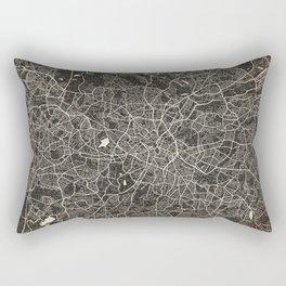 birmingham map ink lines Rectangular Pillow
