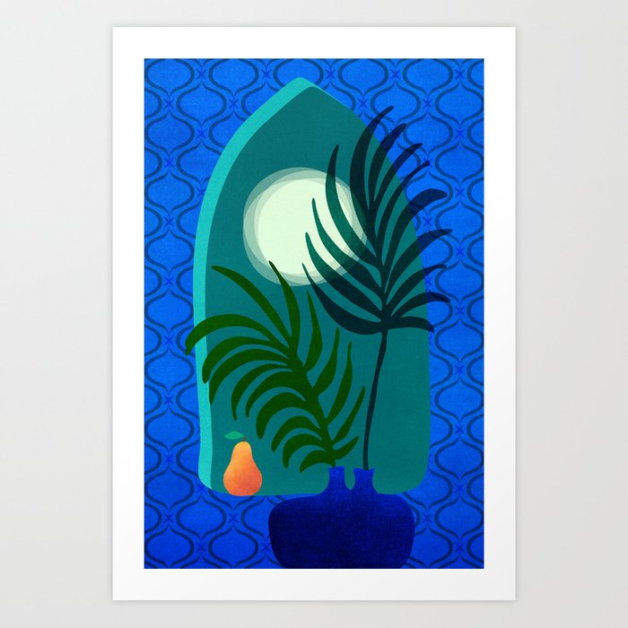 Gothic Tropics / Night Scene Series Art Print
