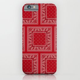Classic Red Bandana Large Patches iPhone Case
