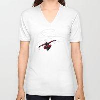 daredevil V-neck T-shirts featuring My Daredevil by Osvaldo Casanova