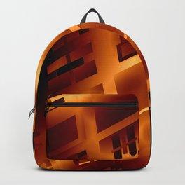 Abstract 379 Orange Geometric Windows Backpack