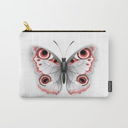 Gray Butterfly Peacock Eye Carry-All Pouch