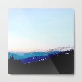 Mountain views abstracted to color blocks Metal Print
