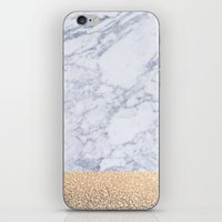 marble iPhone & iPod Skins featuring MARBLE by Monika Strigel