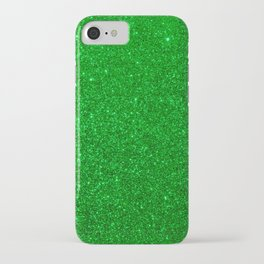 Emerald Green Shiny Metallic Glitter iPhone Case