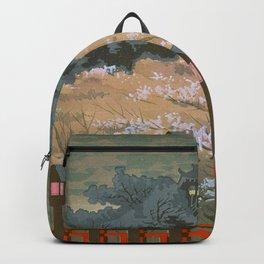 Tokuriki Tomikichiro Scenes of Sacred Places and Historic Landmarks Yamato Shigisan Shrine Backpack