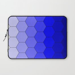 Hexagons (Blue) Laptop Sleeve