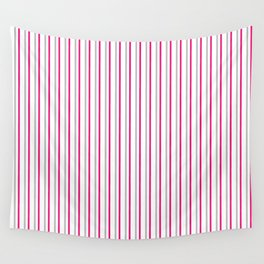 Grey pink stripes pattern Wall Tapestry