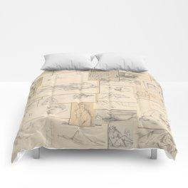 Artist Paul Cézanne Million Dollar Drawing Collage Quilt Comforters