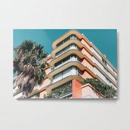 Neon Highrise Metal Print