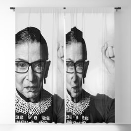 RBG Ruth Bader Ginsburg Drawing Jane Fonda Mug Shot Mugshot Blackout Curtain