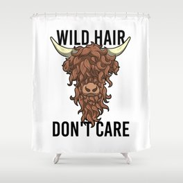 Wild Hair Don't Care Hipster Hairstyles Gift Shower Curtain