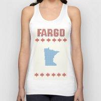 fargo Tank Tops featuring Fargo Cross Stitch by Cameron Chapman