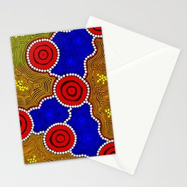 Authentic Aboriginal Art - Circles Stationery Cards